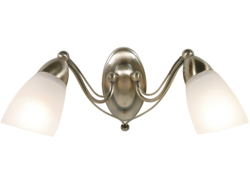 Wall Light Fitting Instructions : venus Wall Light 7350 Antique Brass Effect 40w - review, compare prices, buy online