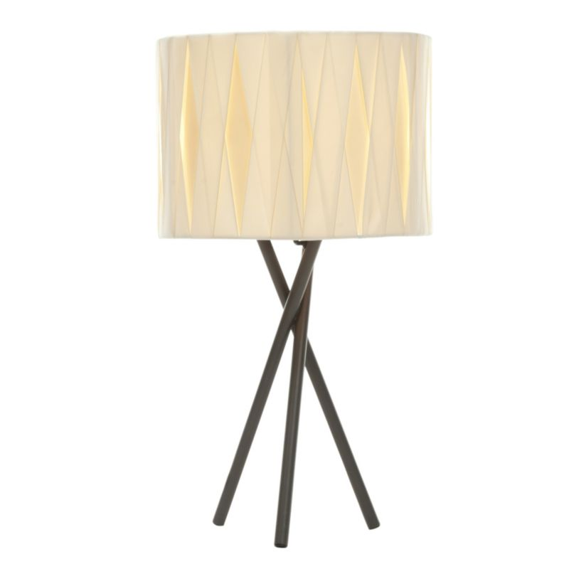 Acasia 1 Light Metal and Fabric Table Light
