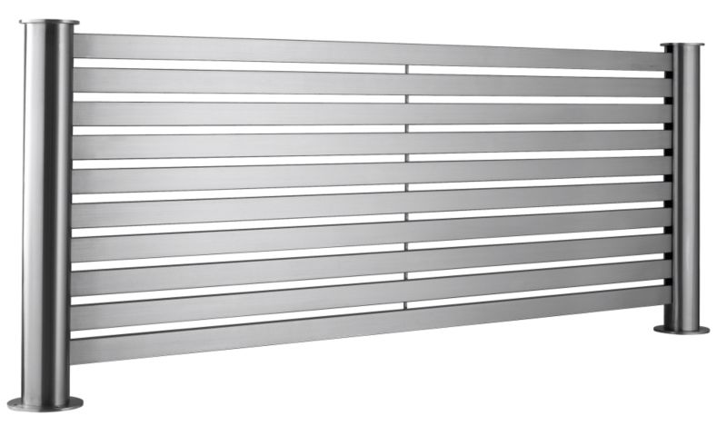 Accuro-Korle Mariner Flat Radiator Brushed Stainless Steel