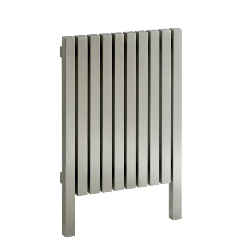 Accuro-Korle Talus E20/7560 Radiator Brushed Stainless Steel (H) 75 x (W) 99 x (D) 6cm