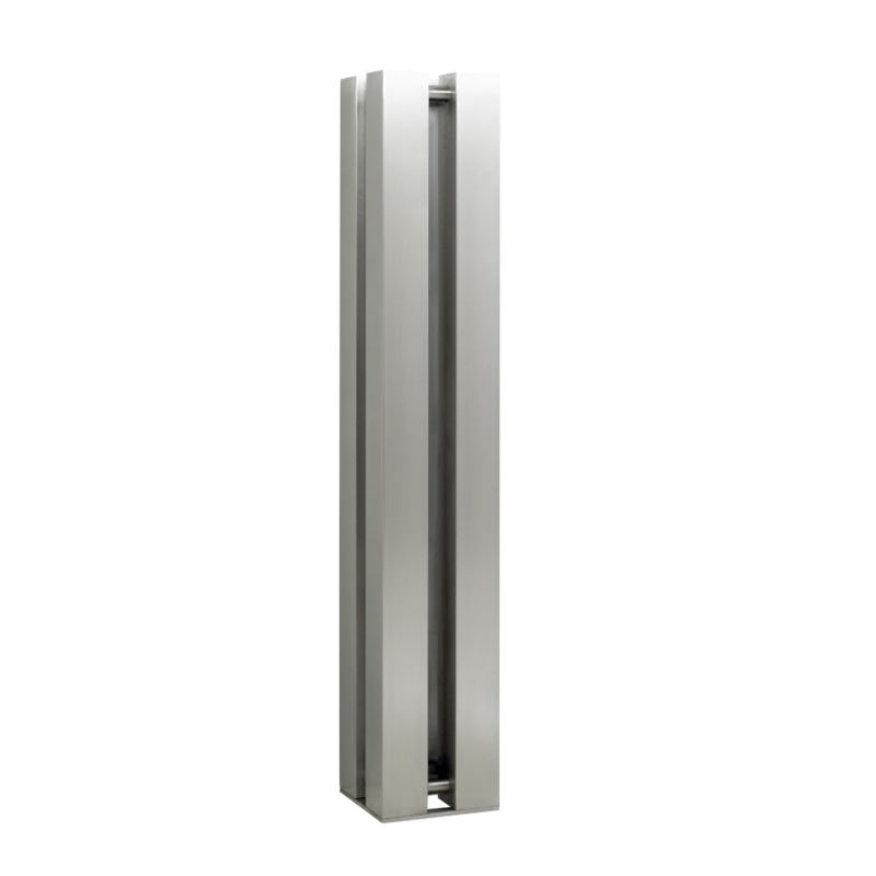 Accuro-Korle Quattro Radiator Brushed Stainless Steel (H) 151 x (W) 26 x (D) 26cm