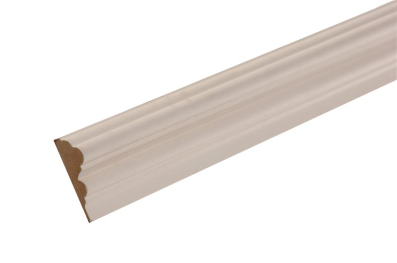 MDF Moulding Dado Rail White (L)2400 x (W)58 x (T)18mm