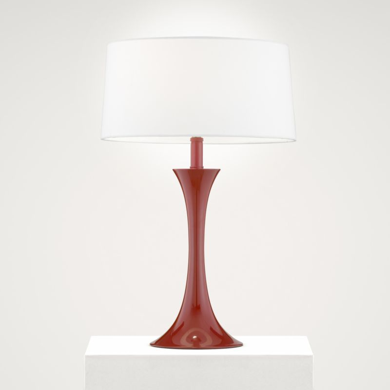 Lights by BandQ Flair Table Lamp Red