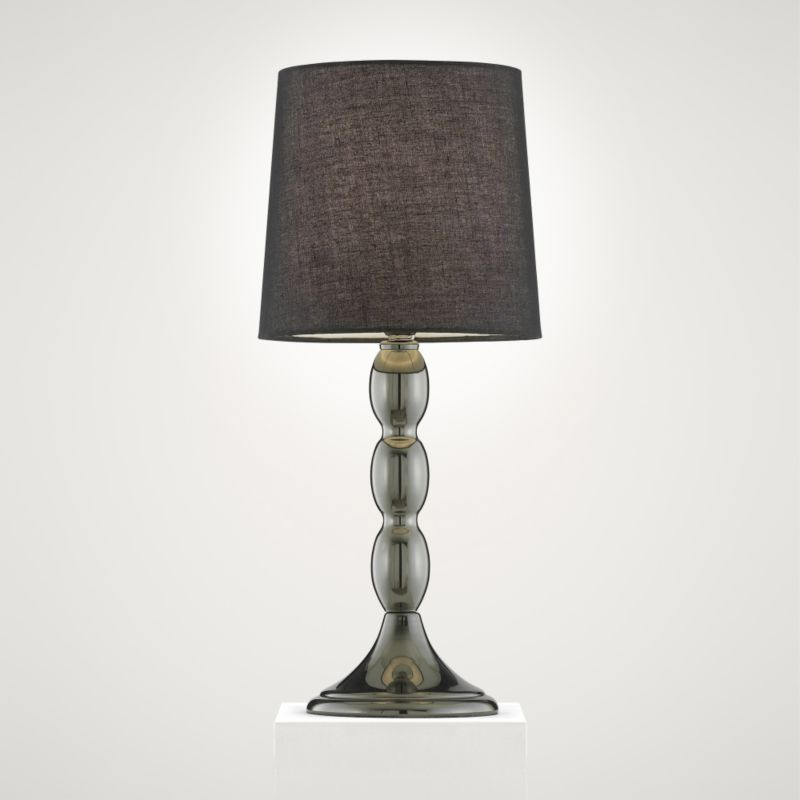 Colours by BandQ Allegra Table Lamp Gun Metal