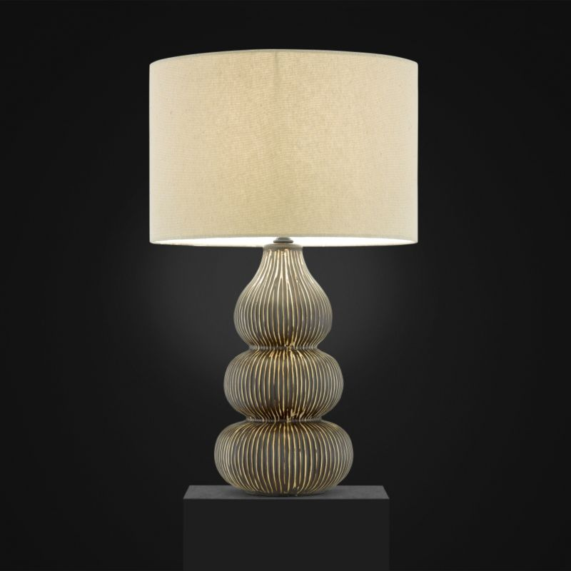 Lights by BandQ Kirabo Table Lamp Tan