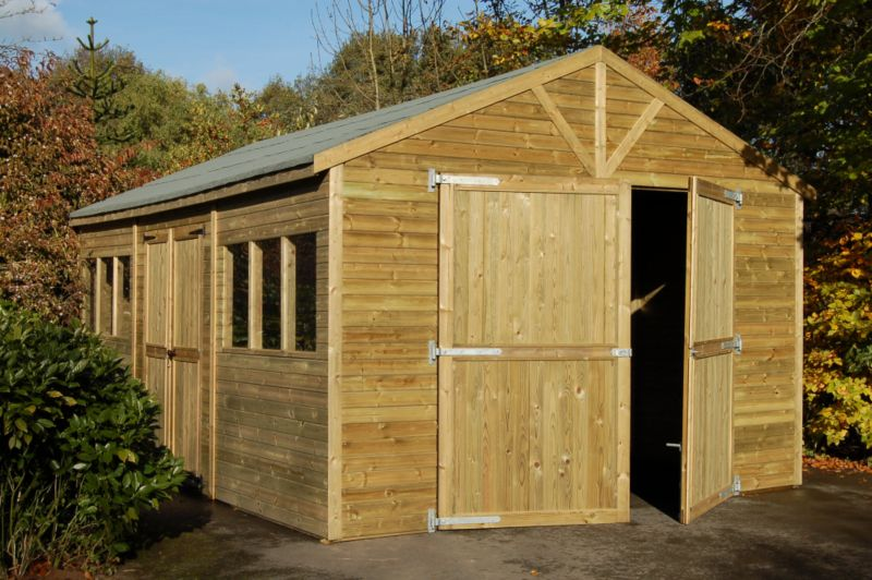 Tongue & Groove Garage - (H) 2.89m x (W) 3.69m x (D) 5.14m