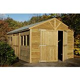 Save on this Tongue & Groove Garage - (H) 2.89m x (W) 3.69m x (D) 5.14m