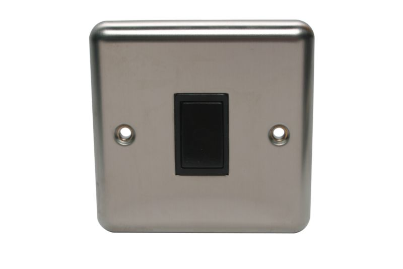 Volex Light switch Single 2 Way 1Ax Black Int