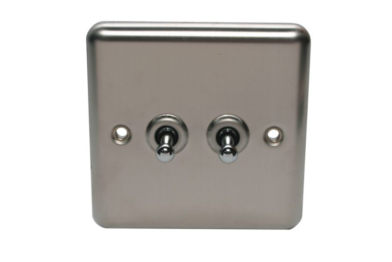 Volex Light switch Toggle Double 2 Way 1Ax