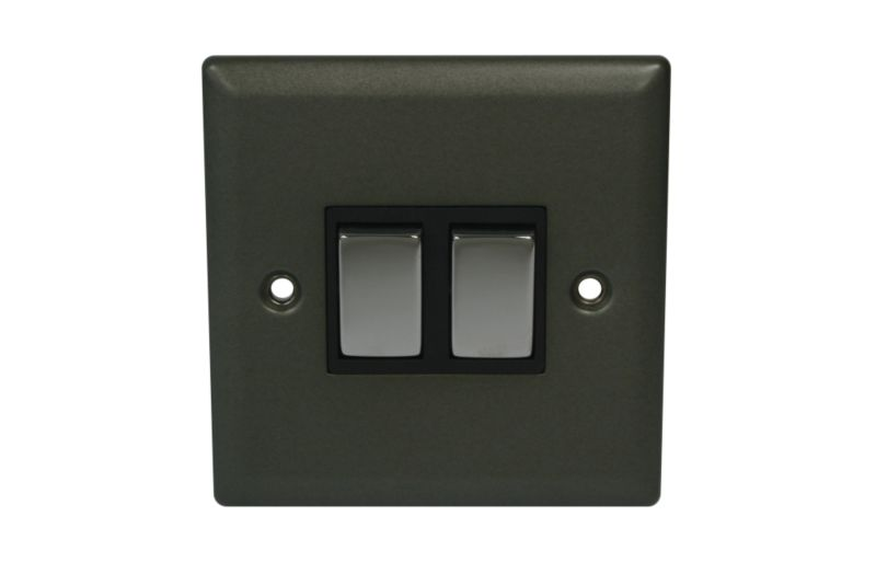 Volex Light switch Double 2 Way 1Ax