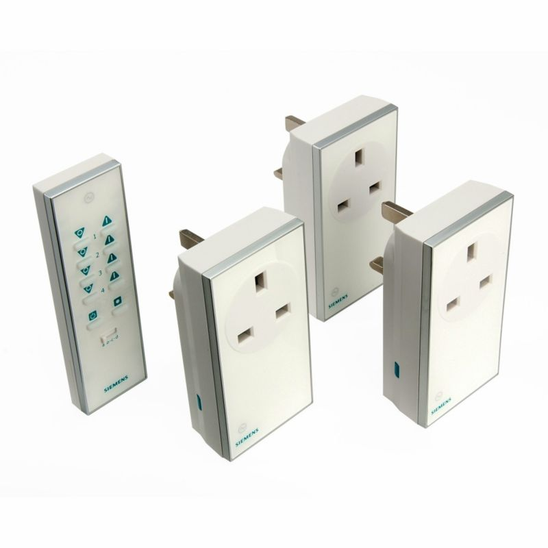 Siemens Remote Control Socket Kit 3 Pack White