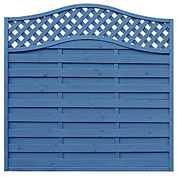 Blue Woodbury Timber Fence Panel W 1 8m H 1 8m Pack Of