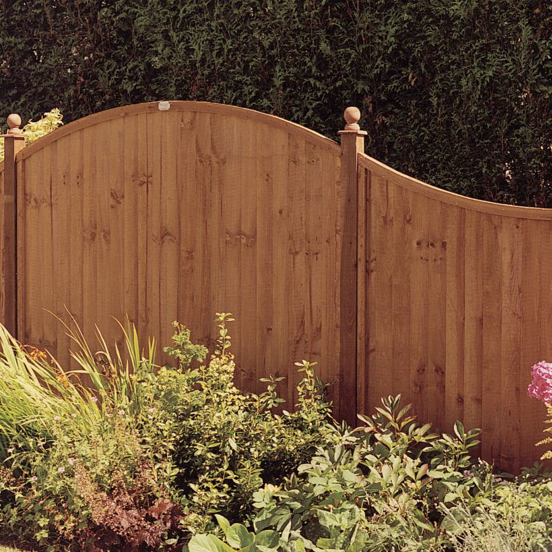 Grange Dome And Bow Closeboard Kit 20 x Panels (10 x Dome, 10 x Bow), 21 x (H)2.4m Posts
