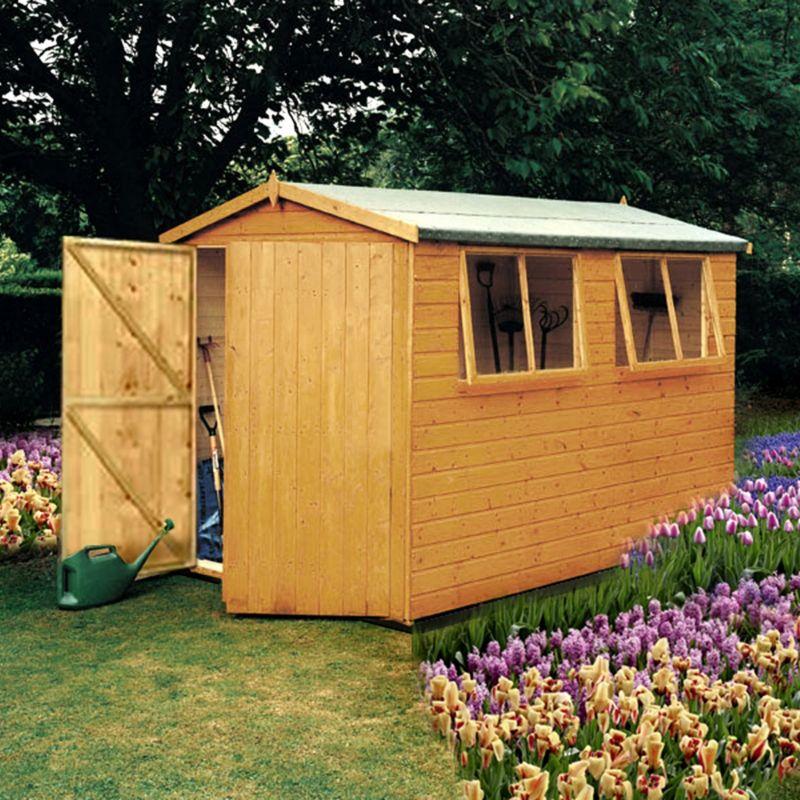 B q diy uk 10x10 double door shiplap wooden shed with 2 for 10x10 shop door