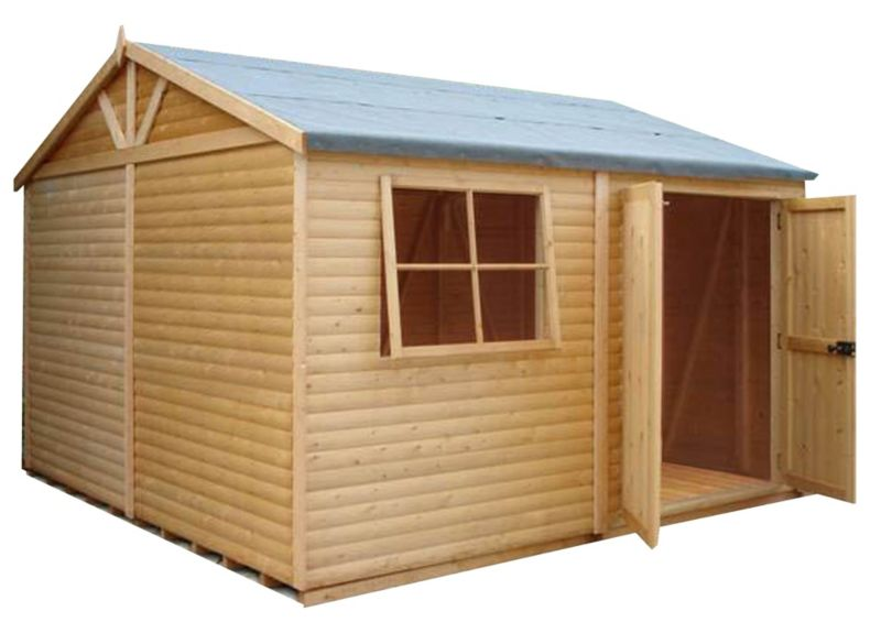 Shire Mammoth Wooden Apex-Roof Shed–Workshop, 1010