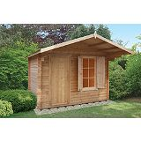 Save on this Wyre 43 Cabin Including Assembly (H) 2.61 x (W) 3.59 x (D) 2.99m