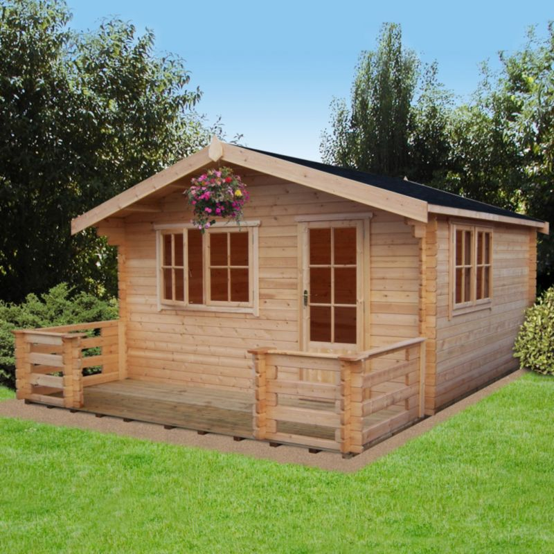 Kinver Cabin Natural (H) 2.7 x (W) 4.19 x (D) 4.19m