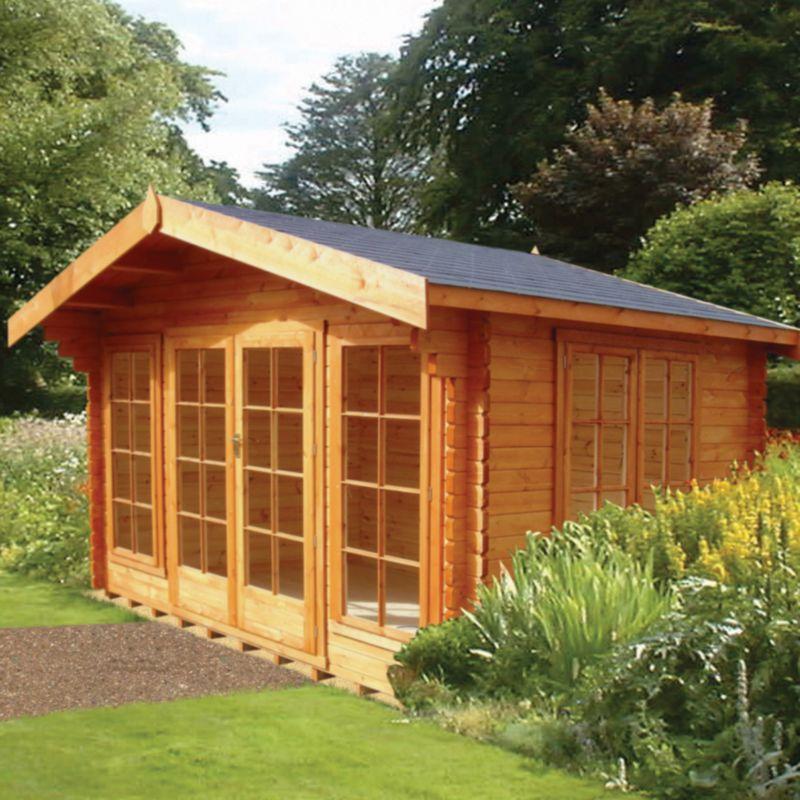 Argyll Log Cabin (H) 2.7m x (W) 3.59m x (D) 3.59m