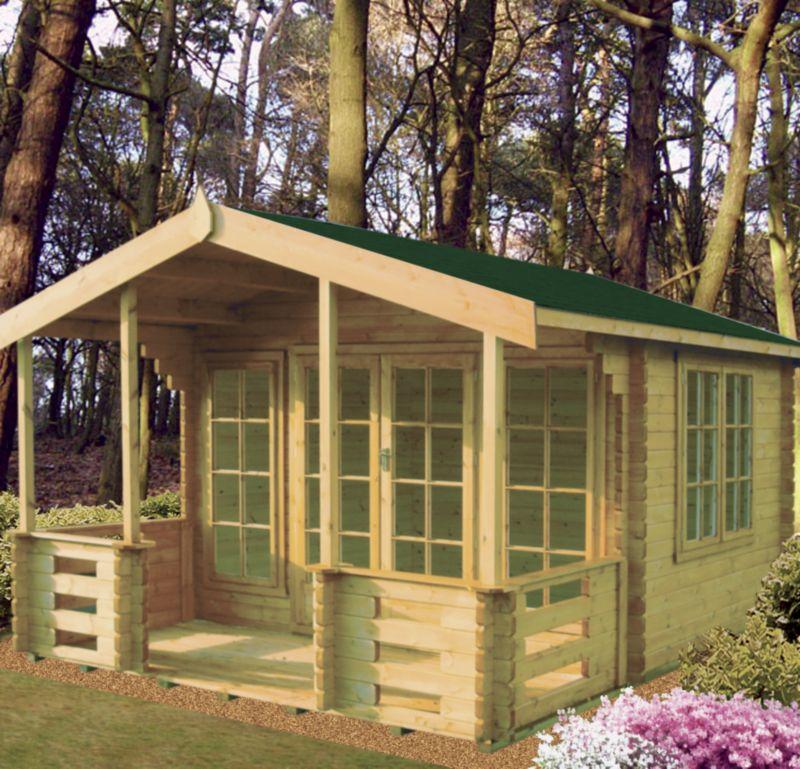 Hatfield Log Cabin  (H) 2.7m x (W) 3.59m x (D 3.89m