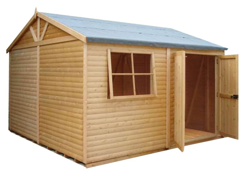 Shire Mammoth Wooden Apex-Roof Shed–Workshop, 1212