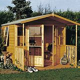 Save on this 8x9 Milton Shiplap Wooden Summerhouse - Home Delivered with Assembly