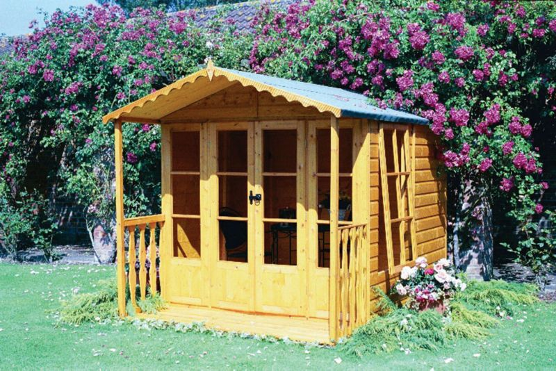 Kensington Summerhouse with Veranda 12 x 7 Including Assembly Honey Brown