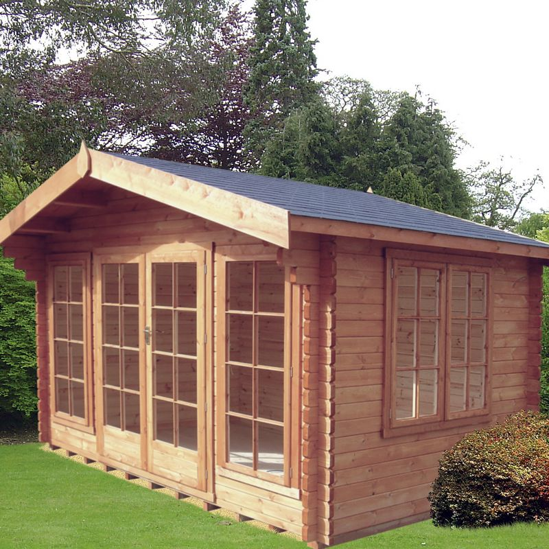 Argyll Log Cabin (H) 2.7m x (W) 3.59m x (D) 2.39m