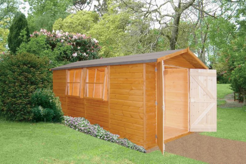 Apex Shed Model 137 Including Assembly Honey Brown