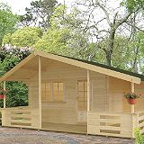 Save on this Brecon Log Cabin Right Hand Terrace  (H) 2.95m x (W) 5.37m x (D) 4.5m