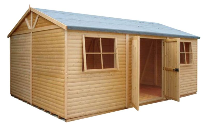 Shire Mammoth Wooden Apex-Roof Shed–Workshop, 1015