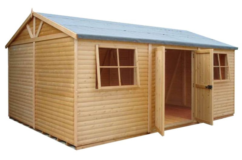 Shire Mammoth Wooden Apex-Roof Shed–Workshop, 1218
