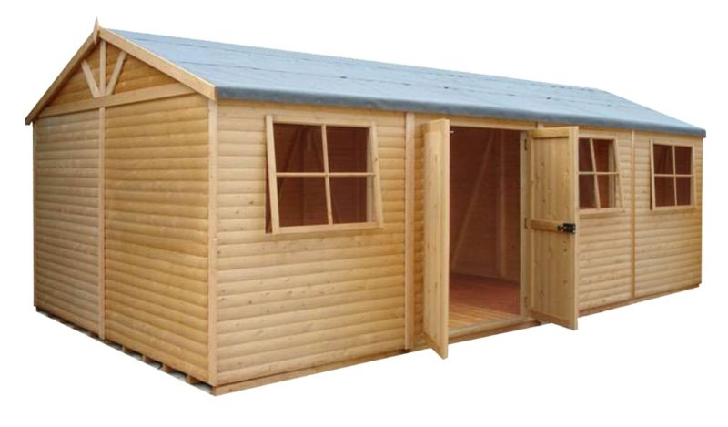 Shire Mammoth Wooden Apex-Roof Shed–Workshop, 1020