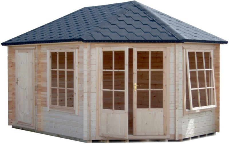 Leygrove Corner Cabin & Shed Including Assembly