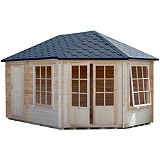Save on this Leygrove Corner Cabin & Shed Including Assembly