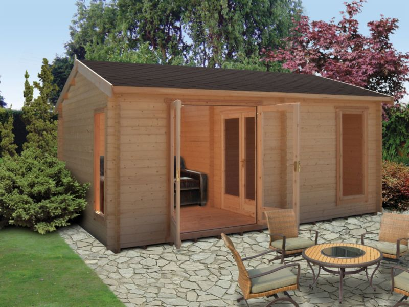 Brighstone 45 Cabin Including Assembly (H) 2.82 x (W) 5.28 x (D) 3.88m