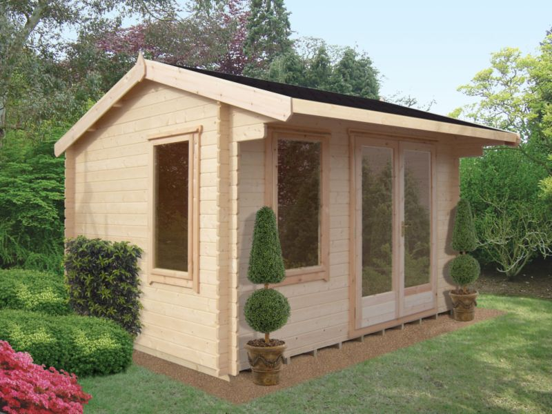 Wychwood Cabin Natural (H) 2.66 x (W) 4.19 x (D) 2.99m