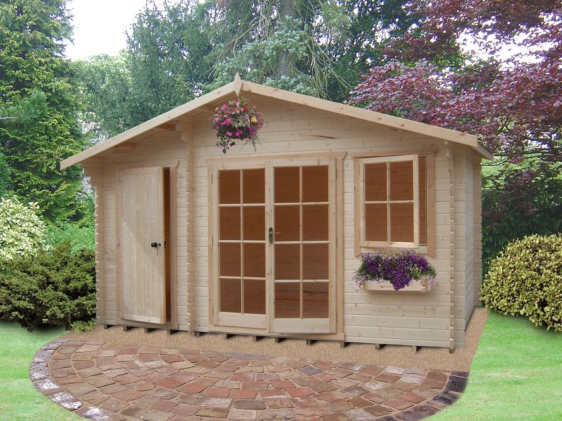 Carrick Cabin (H)2.7 x (W)4.19 x (D)3.49m Including Assembly