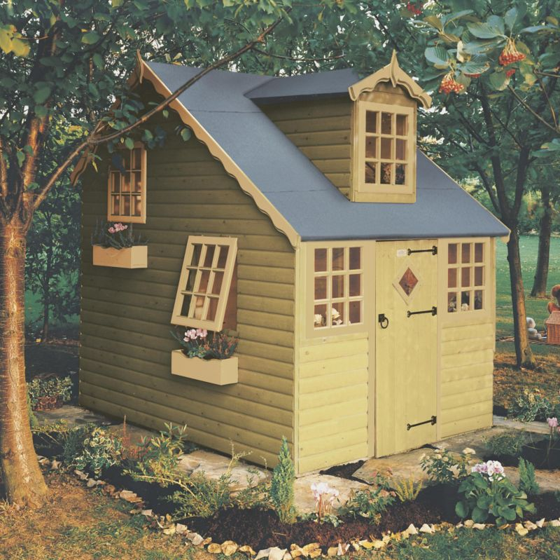 Cottage Playhouse 2390 x 1790 Including Assembly Honey Brown