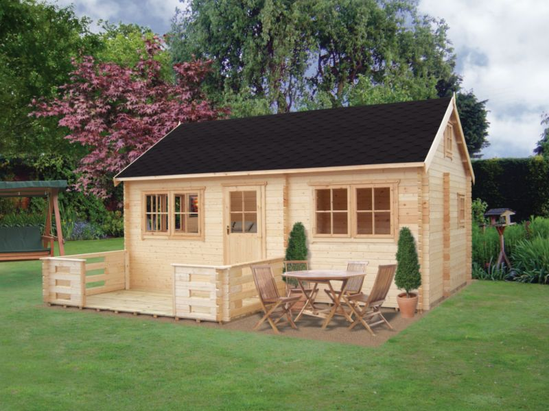 Whinfell Cabin Double Glazed Including Assembly (H)3.47 x (W)5.9 x (D)5.84m