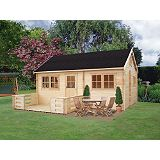 Save on this Whinfell Cabin Double Glazed Including Assembly (H)3.47 x (W)5.9 x (D)5.84m