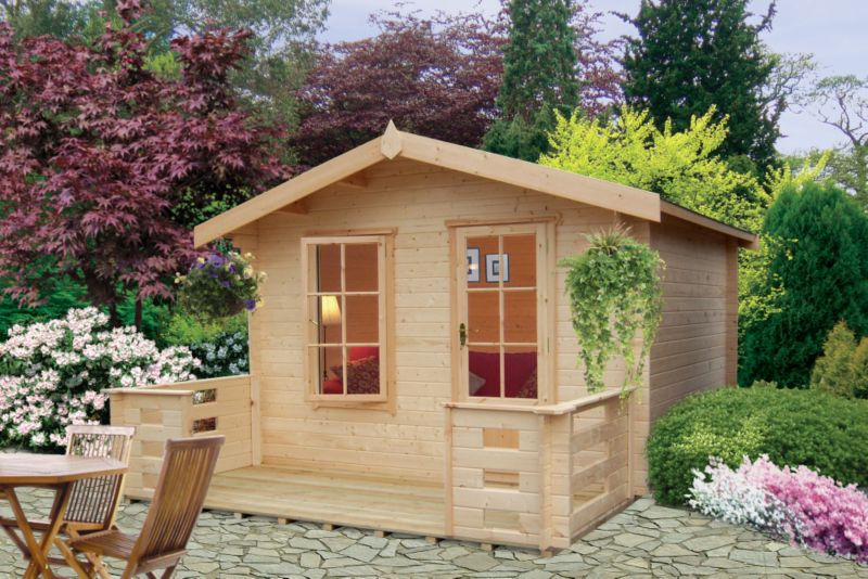 Darwin Cabin Including Assembly (H)2.54 x (W)3.59 x (D)2.39m