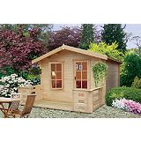 Save on this Darwin Cabin Natural  (H)2.4 x (W)2.39 x (D)2.39m