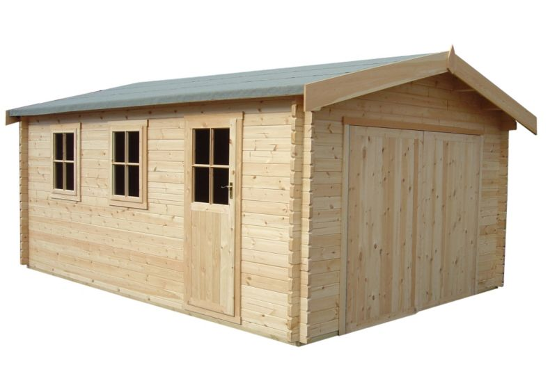14X15 Wooden Garage Including Assembly