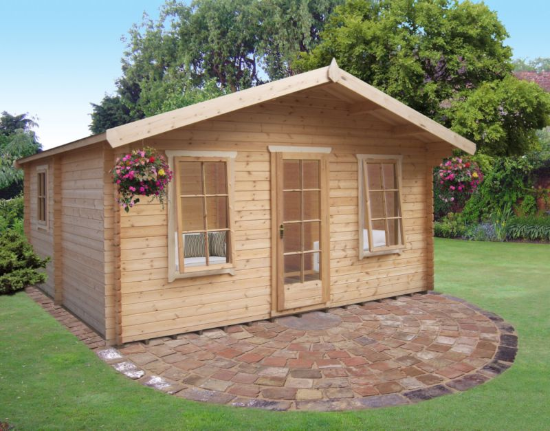 Delamere Cabin Including Assembly  (H)2.88 x (W)4.64 x (D)4.64m