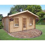 Save on this Delamere Cabin Including Assembly  (H)2.88 x (W)4.64 x (D)4.64m