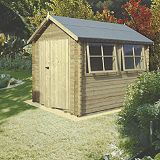 Save on this Galway Log Cabin  (H) 2.4m x (W) 2.39m x (D) 2.99m