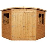 Save on this Hampton Wooden Corner Shed 10 x 10ft including Assembly