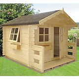 Save on this Salcey Pine Lodge Including Assembly Honey Brown