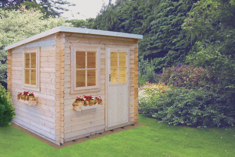 Dean Pine Cabin Including Assembly (H)2.23 x (W)2.39 x (D)2.39m