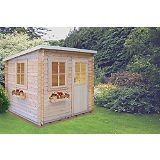 Save on this Dean Pine Cabin Including Assembly (H)2.23 x (W)2.39 x (D)2.39m